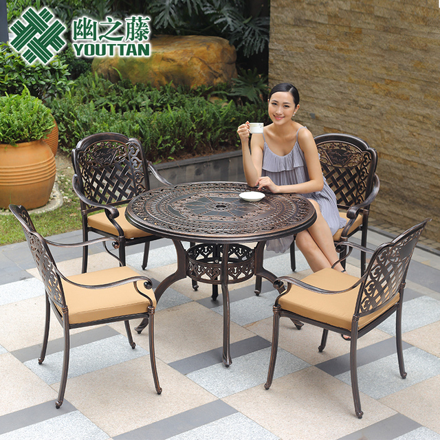 Cast Aluminum Outdoor Furniture Casual Living Room Patio Garden Terrace Sets