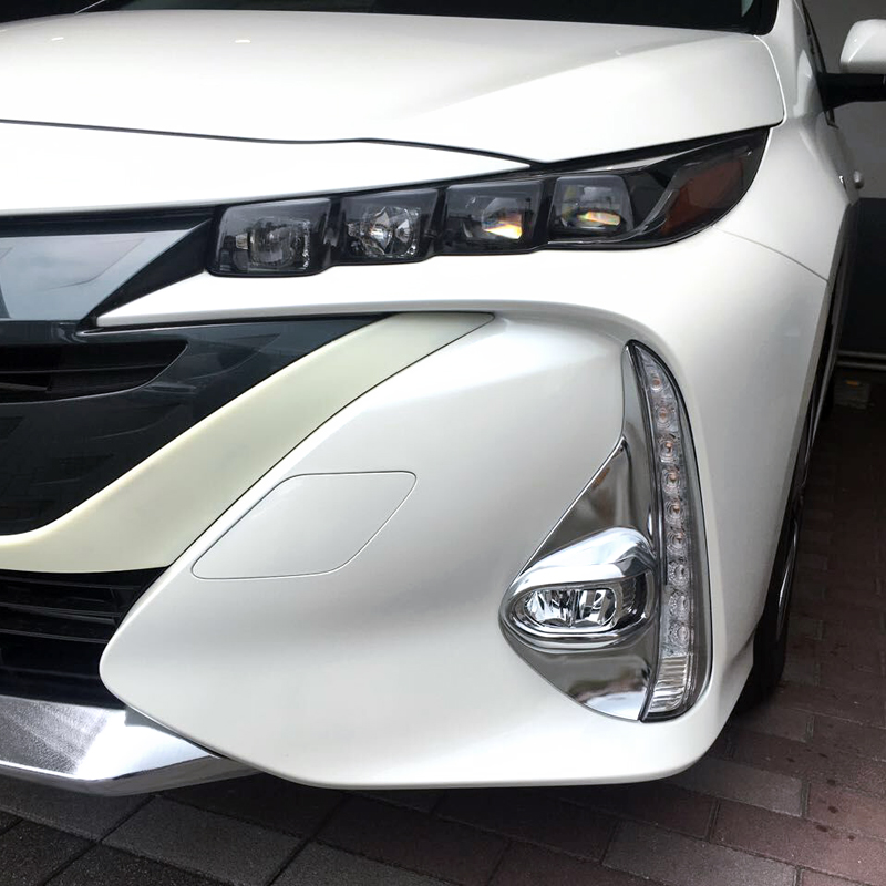 Exterior ABS Front Fog Lamp Light Mouldings 2PCS For Toyota Prius Prime/PHV 2017-2018 lacywear s 1 phv