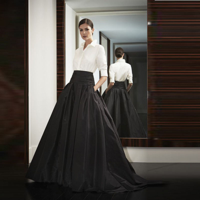 Compare Prices on Black Satin Long Skirt- Online Shopping/Buy Low ...