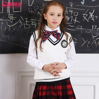 Children S Clothes Girl S Sweater Vest Set Of Head Outfit 2016 Children New Cotton Knit
