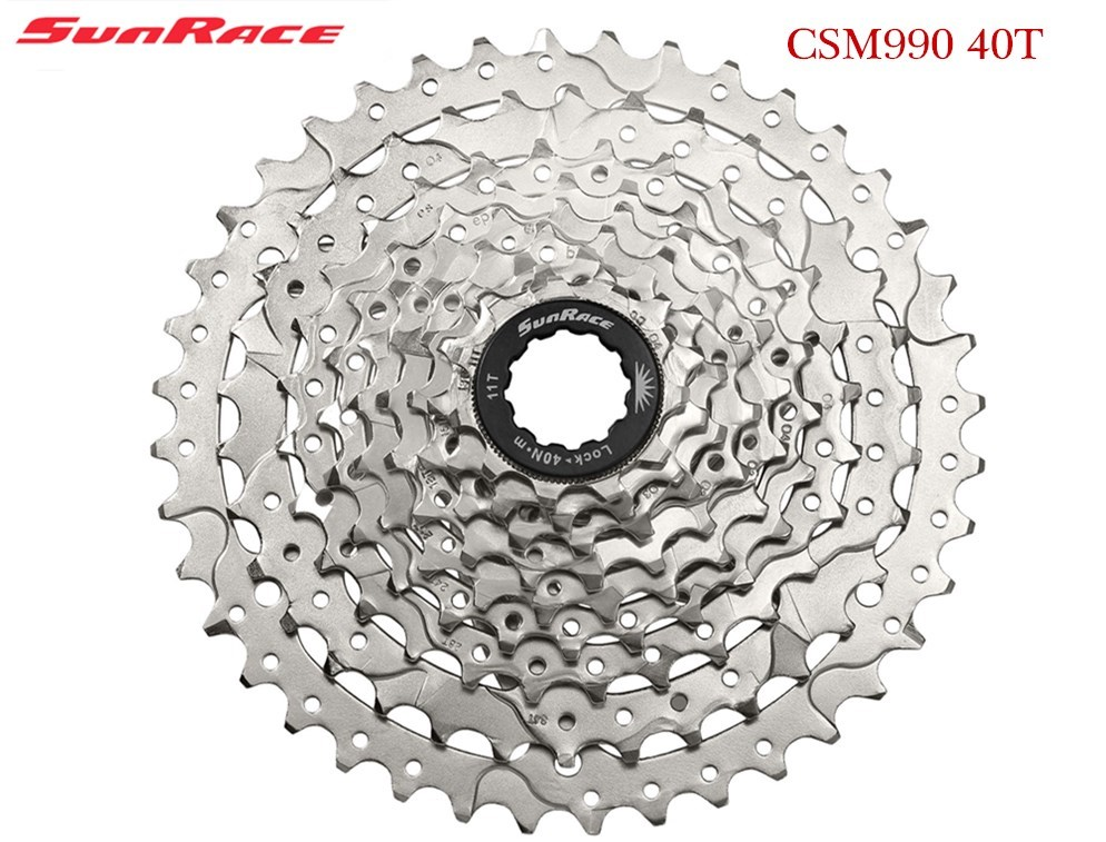 SunRace 9 speed csm990 11 40 T cassette tool free wheel of mountain bike mtb bike