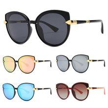 Fashion Women Retro Large Frame Eyeglasses Cat Eyes Polarized Spectacles Classic Eyewear Versatile Sunglasses