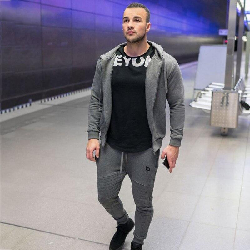 Mens tracksuit Set Joggers Suits Male (16)