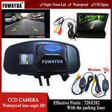 FUWAYDA wireless new LED Night Vision Reverse CCD Car Camera with 4.3 Inch Rear view Monitor For Honda CRV CR-V Odyddey Fit Jazz