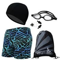 New Swimwear Set Men Breathable Swimming Trunks Mens 5PCS Sets Quick Dry Swim Briefs Beach Shorts