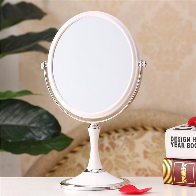 Compacto espelho de maquilhagem espelho de maquiagem profissional de 8 Polegada da senhora mesa cômoda espelho de mesa Dupla Face espelho do banho