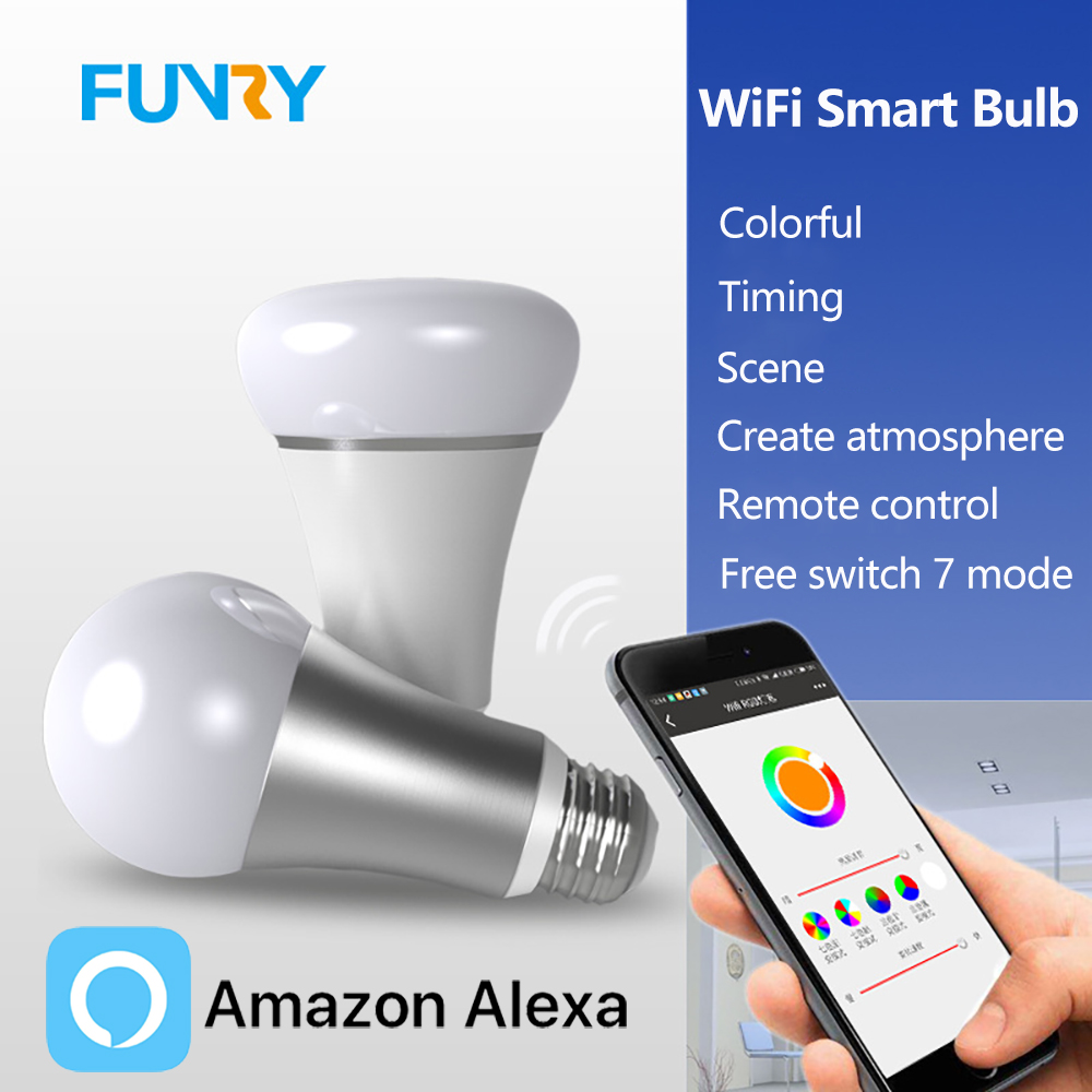 Wifi remote control smart Led colour changer Light Bulbs - Works With Alexa