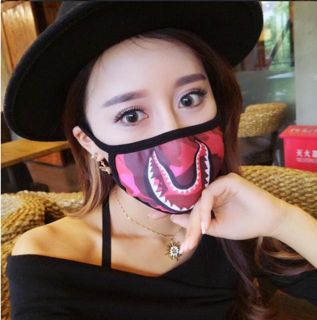 Free shipping Bathing Ape Shark Black Face Mask Camouflage Mouth-muffle  Cover 50e682e34d2d
