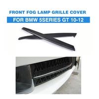 Carbon Fiber Front Fog Light Covers Lamp Masks Trim Stickers For BMW F07 GT Gran Turismo 2010 2012