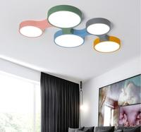 Modern Led Ceiling Light Dimmable Remote Control Lustre Ultra thin 5cm Colorful Ceiling Lights Fixtures For Kids Room Bedroom
