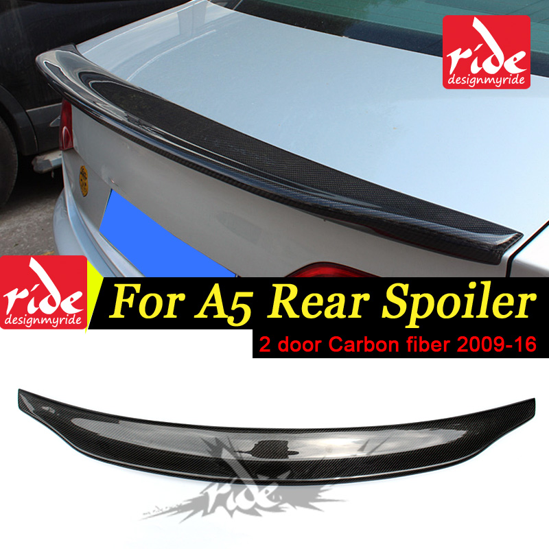 A5 Belgium Style Rear Spoiler For Audi A5 S5 High quality Carbon Fiber 2DR Rear Trunk Spoiler Wing car styling Decorations 09 16 in Spoilers Wings from Automobiles Motorcycles
