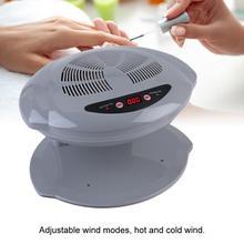 Nail Dryer Fan 2 In 1 Grijs 400W Cool/Warm Air Blow Temperatuursensor Nagellak Droger Machine eu Plug 220V