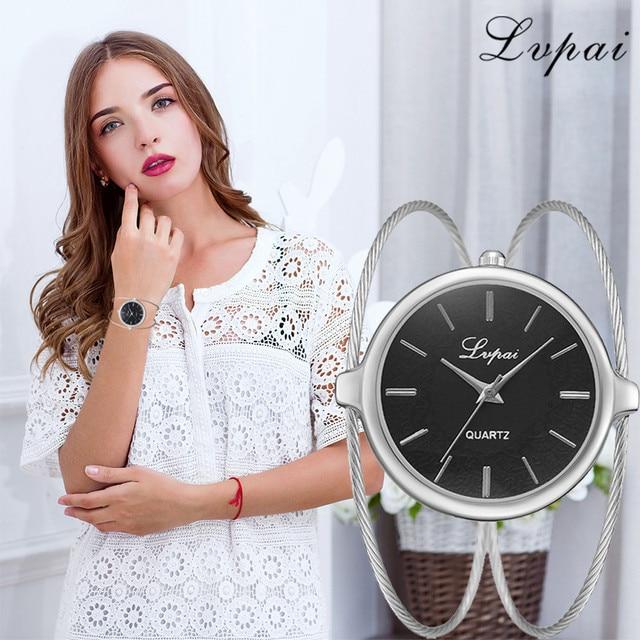 Lvpai Fashion Luxury Brand Women Watch Stainless Steel Case Quartz Bracelet Watc