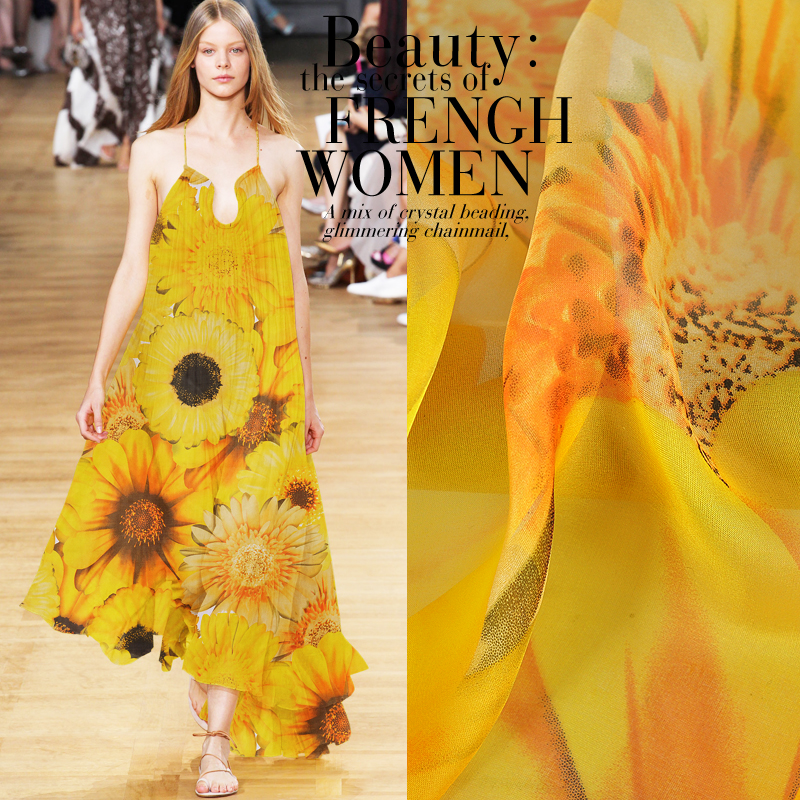 135*50cm Sunflower 6 Momme Pure Mulberry Silk Tulle 100