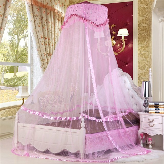 Hoge Kwaliteit Hung Dome Klamboe Lace Insect Bed Canopy Klamboe ...