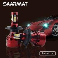 1 Set H4 9003 HB2 160W 16000LM LED Headlight Kit Hi Lo Beam Bulb White 6000K