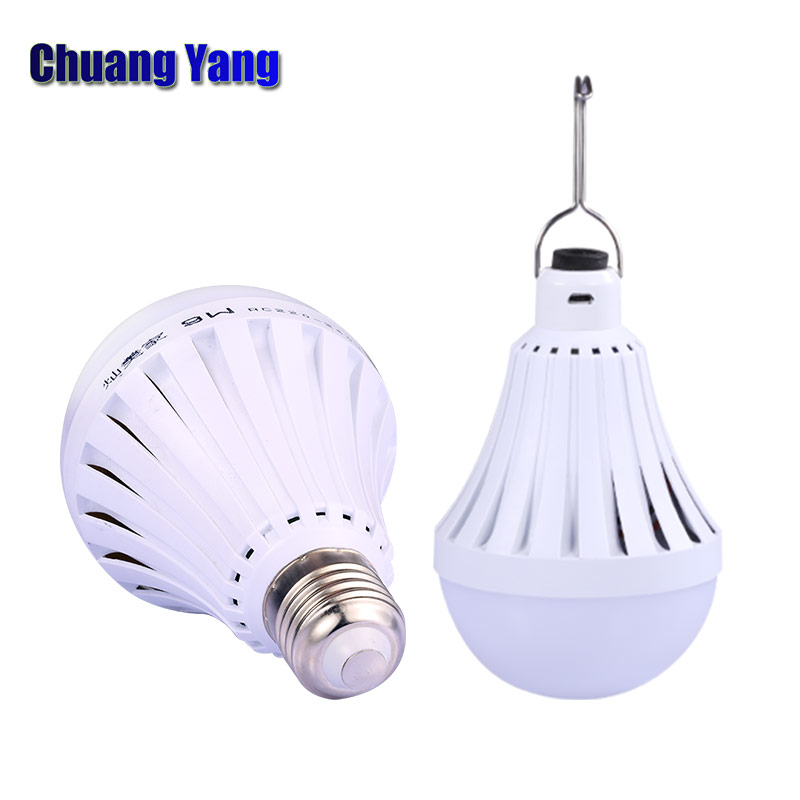 Portable DC5V 12W 20W 30W 40W USB Charging Emergency Lamp & Led Bulb E27 LED Emergency Rechargeable Bulbs For Camping Fishing