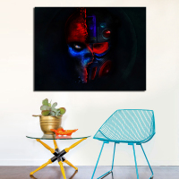 Half Man Half Robot Printed Oil Painting On Canvas Wall Art Pictures For Home Decor No