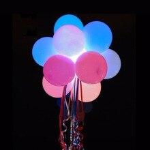 50pcs/lot 12inch White Led Balloon Light Luminous Latex Balloons Glow Birthday Party Supplies Wedding Decor