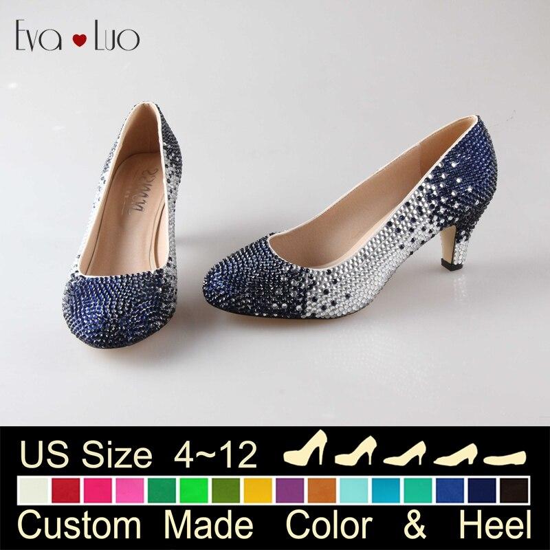 Popular Blue Wedding Shoes Low Heel-Buy Cheap Blue Wedding Shoes