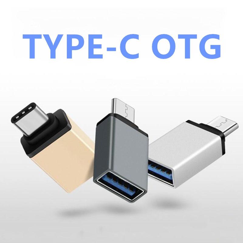 FFFAS USB 3.0 Type C OTG Cable Adapter for Huawei Xiaomi 5 4C Macbook Nexus 6p Type-C USB-C OTG Converter for all type-c  phone type c to 8 pin otg type c adapter