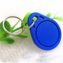 RFID 13.56 MHz NFC Tag Token Key Ring IC tags M1 s50 Compatible RFID Keyfobs Different Color High Quality (10pcs) 13 56mhz mf 1k s50 fm11rf08 f08 nfc transparent trops of glue card rfid key tag key ring