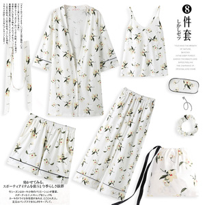 Image 1 - Yulan pajamas, spring, autumn, long sleeves, pure cotton, seven suits, kimono, robe, summer and winter sexy home clothes.