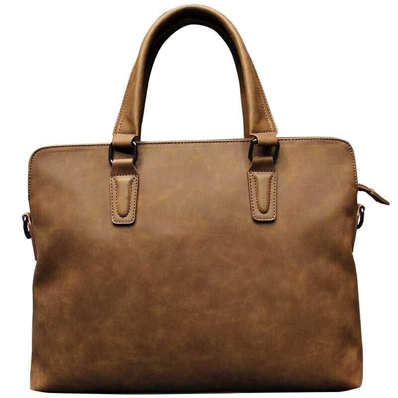c5ebd4196f7e Модная винтажная классическая сумка унисекс портфель Crazy-horse кожа  женский дизайн высокое качество бизнес-сумка матовая сумка для ноутбука