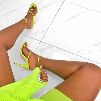 2019 Summer Pumps New Sexy Gladiator Sandals Shoes Women Thin High Heels Open Toe Sandal Lady Ankle Strap Pump Shoes Size 35-42 5