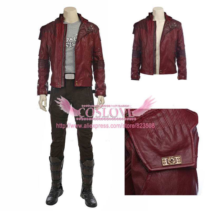 Marvel Guardians of the Galaxy Vol. 2 Star Lord Peter Jason Quill Cosplay Costume Custom Made For Halloween Christmas lord marksman and vanadis vol 2