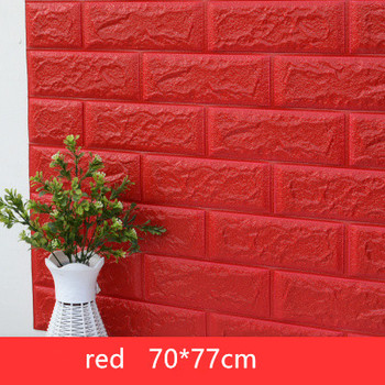 DIY Self Adhensive 3D Brick Wall Stickers Living Room Decor Foam Waterproof Wall Covering Wallpaper For TV Background Kids Room 15
