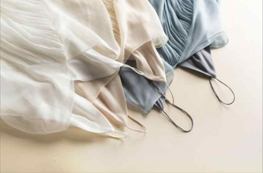 新しい夏のビーチのドレス 100% シルク女性ブルーベージュホワイトドレスエレガントな天然生地高品質ホット販売送料無料