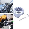 Relógio Motocicleta Guiador Moto Handle Bar Relógio à prova d' água Acessórios Da Motocicleta Preto e Branco a Cores