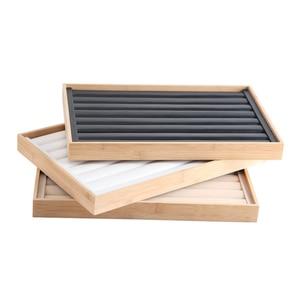 Image 5 - Mordoa มาใหม่ไม้ไผ่เครื่องประดับอัญมณีถาดผู้ถือแหวนสร้อยคอ Organizer สร้อยข้อมือตู้โชว์จี้กล่อง