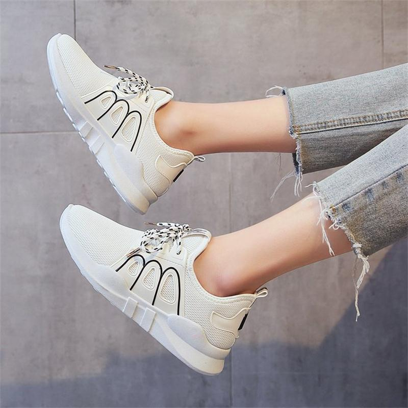 2018 New Women Vulcanized Shoes Spring Summer Lace-Up Breathable Women Platform Shoes Fashion Casual Women Sneakers YBT1002 women creepers shoes 2015 summer breathable white gauze hollow platform shoes women fashion sandals x525 50