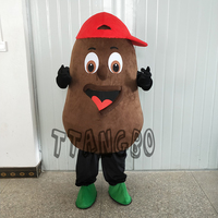 Sale Coffee bean mascot Characters Cartoon chocolate Costume Anime Cosplay Christmas Halloween birthday party Free Delivery