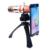 2en1 práctico 18x telescopio óptico de la lente con el trípode para samsung zoom lente telefoto mobile & 150x lente macro para iphone cl-89