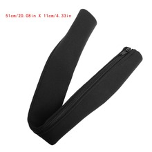 diy neoprene cable management sleeve zipper wrap wire hider cover organizer