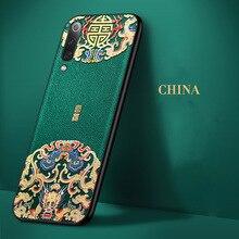 Aixuan الجلود ل شياو mi mi 9 جراب هاتف ثلاثية الأبعاد النقش منقوشة الجلود سيليكون الغطاء الخلفي حالات ل Xiao mi 9 mi 9 SE كابا