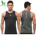 Camada de Base de Compressão dos homens Undershirt VANSYDICAL Parte Superior Do Tanque de Musculação Aptidão Secagem rápida Respirável Encabeça Homens
