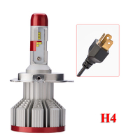 2*H4 9003 80W 12000LM CANBUS Decoder Dual Beam Car LED Headlight PhilipsZES Chips 6K Hi/Low(H7 H11 9005 9006 H8 H1 Available)