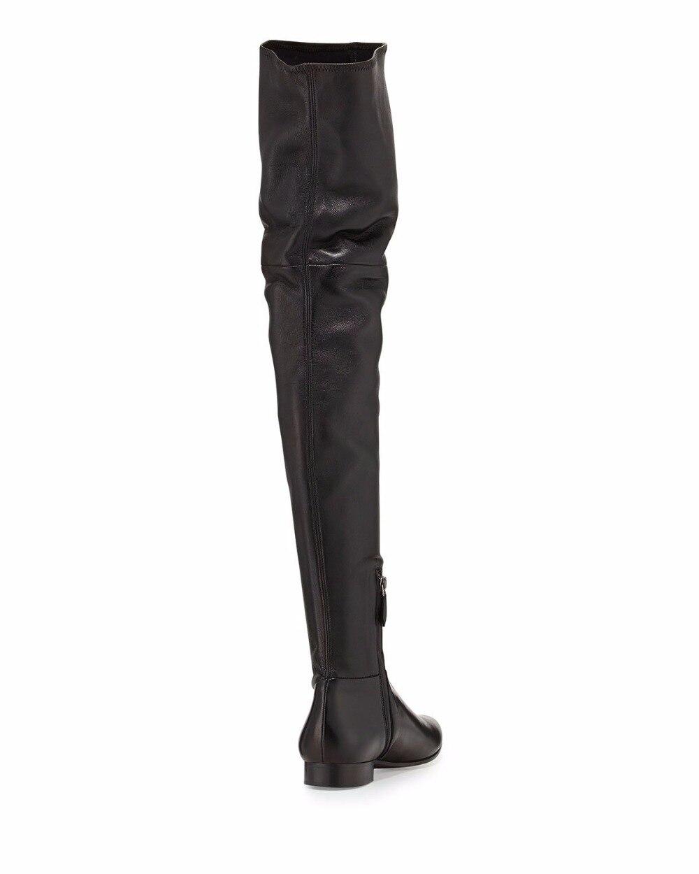 De Bottes Zip Black Rond À Femmes Décontracté Fête D'hiver Dames Le Sur Bout Mode Appartements Genou Côté grey Tenue Longues Aiyoway Noir U7zpRxwx