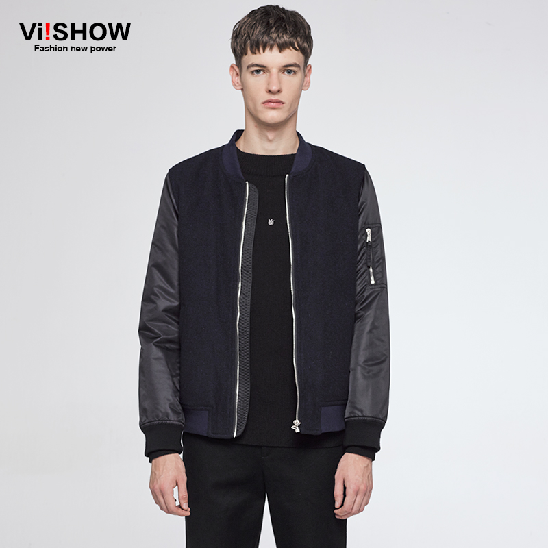VIISHOW Men Jackets Jackets and Coats Brand Clothing Male Overcoat Casual Solid Jacket Slim Fit Zipper Bomber Jacket Men Coat