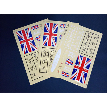Bike Frame stickers Retro flag for Brompton Bicycle brompton stickers