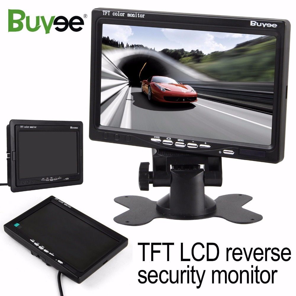 Buyee 7 inch TFT LCD Car Rear View Display Mirror Monitor for Truck Parking Car Reverse Rear View Camera Car screen display 407Buyee 7 inch TFT LCD Car Rear View Display Mirror Monitor for Truck Parking Car Reverse Rear View Camera Car screen display 407