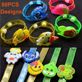 Kids Cartoon Toy Different Styles Flashing Led Bracelet Cheap Gift For Children Birthday Party Lighting Decoration 12pcs
