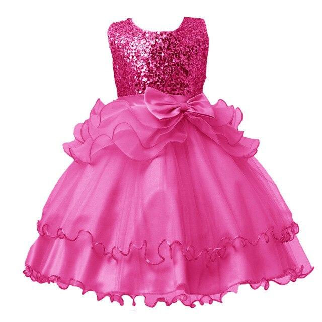 c949480b211aa Hot bébé enfants mariage multicolore robe tissu pour filles été tissu fête  Cosplay robe bébé fille