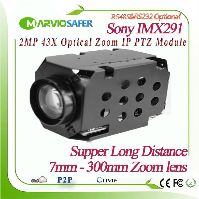 42X H.265 1080 P 2MP 7-300mm Lens Zoom Óptico IP PTZ Módulo Da Câmera Sony Sensor IMX291 Netowork Onvif PELCO-D/PELCO-P Sony Visto