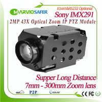H.265 1080 P 2MP 42X 7-300mm Optischer Zoom Objektiv IP PTZ Netowork Camera Module Sony IMX291 Sensor Onvif PELCO-D/PELCO-P Sony Visa