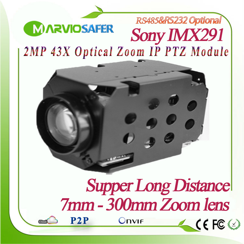 H.265 1080P 2MP 42X 7-300mm Optical Zoom Lens IP PTZ Netowork <font><b>Camera</b></font> <font><b>Module</b></font> Sony <font><b>IMX291</b></font> Sensor Onvif PELCO-D/PELCO-P Sony Visa image